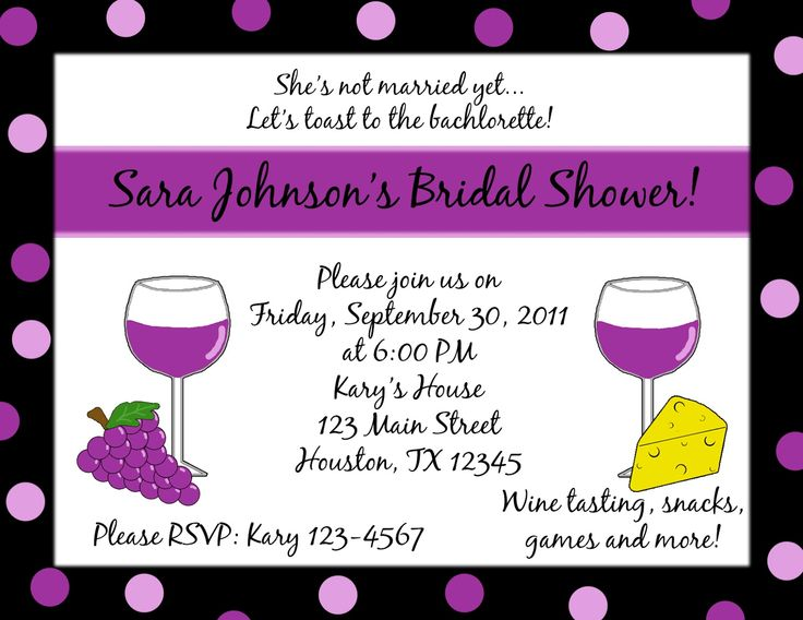 Wedding Shower Invitation Sayings: Girls Night Invitation Wording