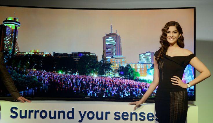 Sonam Kapoor launches new range of Samsung UHD Curved TV