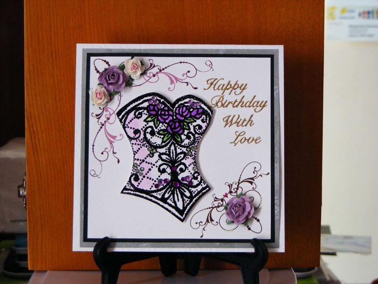 Beaded Bodice Card