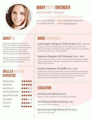Resumes With Pictures sample resume 3 2 Design Resumes On Pinterest Simple Resume Curriculum And Resume Cv