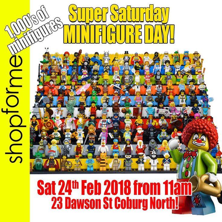 Huge LEGO #minifigureday at shopforme this Saturday 1000s of minifigures for sale! Save the date Sat 24th Feb from 11am plus huge LEGO sales across the store! #shopforme #awesome @shopforme.com.au  #legostarwars #legomelbourne #legos #legocreator #legodc #ninjago #legocreator #legobatman #legosuperheroes #legoaustralia #shopforme #creator #legos #legomarvel #legoninjago #minifigures #legominifigures #minifigure #legomoc