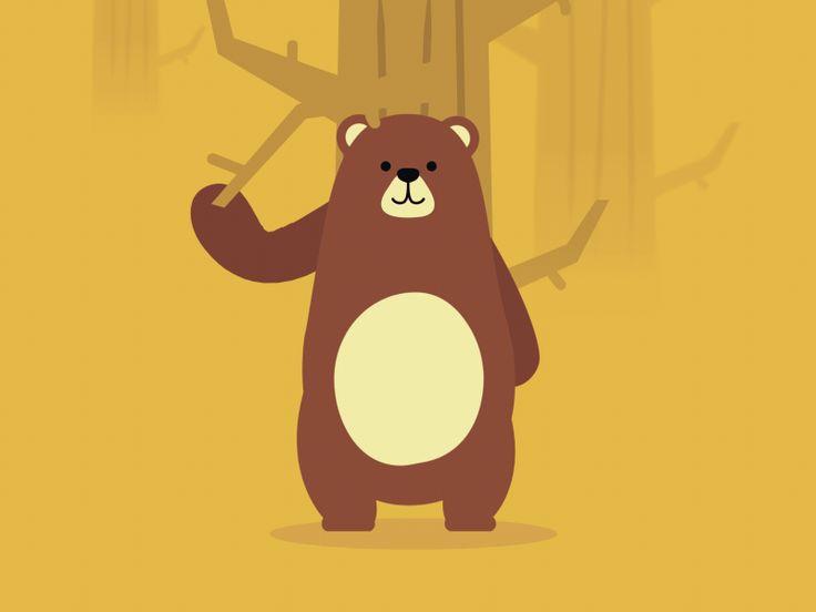 Гифы медведя, днем рождения