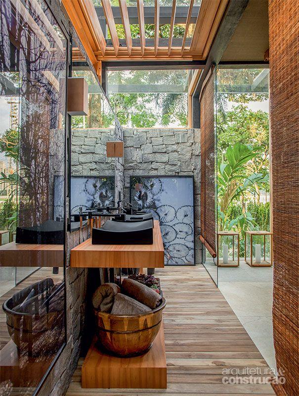 Casa Cor SP: brises integram ambiente de David Bastos à natureza - Casa