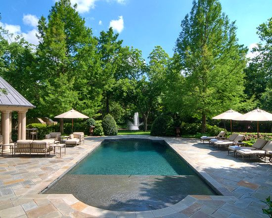 293 best images about pools on pinterest swimming pool for Luxury landscape design