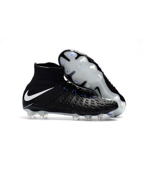 Nike Hypervenom Phantom III DF FG PEVNÝ POVRCH Černá Bílá Modrý Kopačky