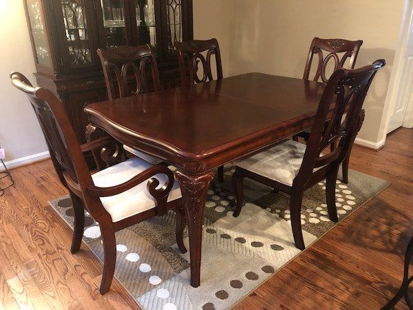 30 Used Dining Room Tables And Chairs Dengan Gambar