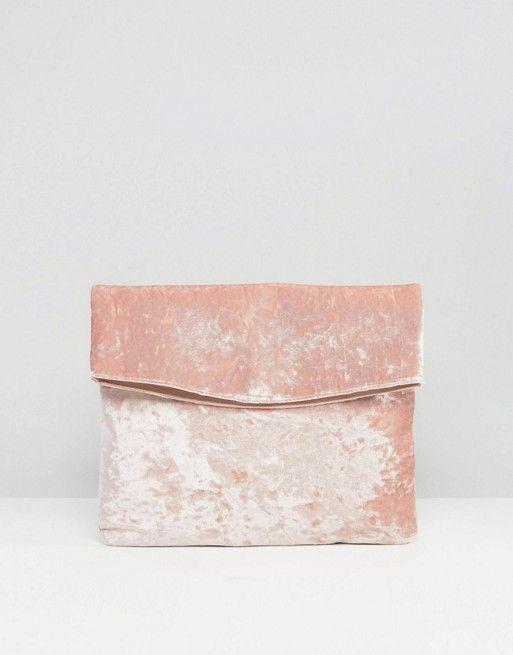 ASOS | ASOS Velvet Foldover Clutch Bag