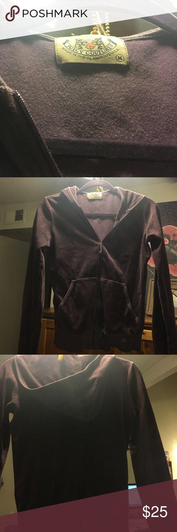 Women's medium Juicy Couture velour zip up Purple zip up hoodie. Women's medium. Velour. Juicy Couture Tops Sweatshirts & Hoodies