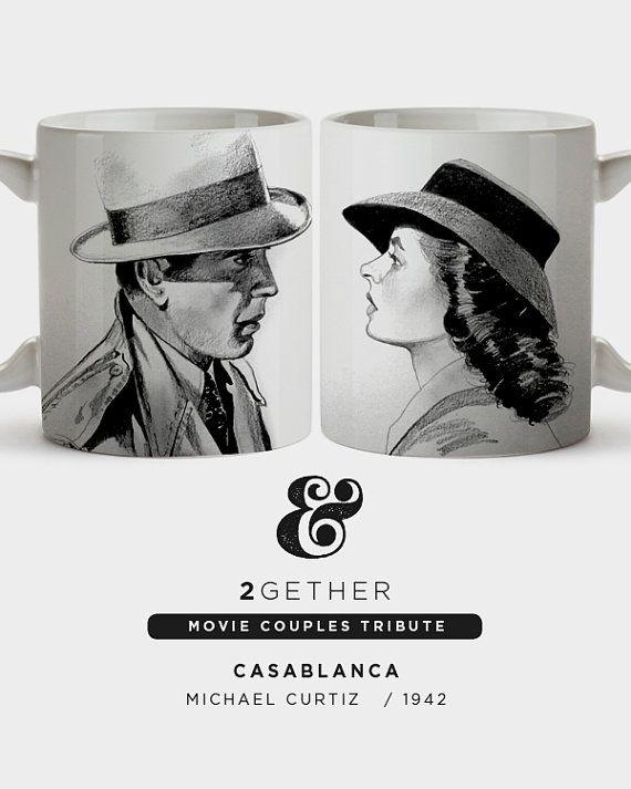 Pack 2 tazas Two Mugs Casablanca Humphrey Bogart by BagApart