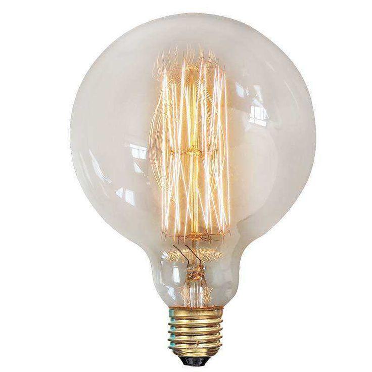 Žárovka Vintage Edison pokračuje v tradici prvních žárovek s klasickým uhlíkovým vláknem. patice E27, 40W, 220-240V, 50/60Hz, životnost 2000h