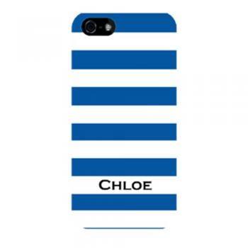 Simplicity NAVYBLUE Stripe Personalised Phone Case