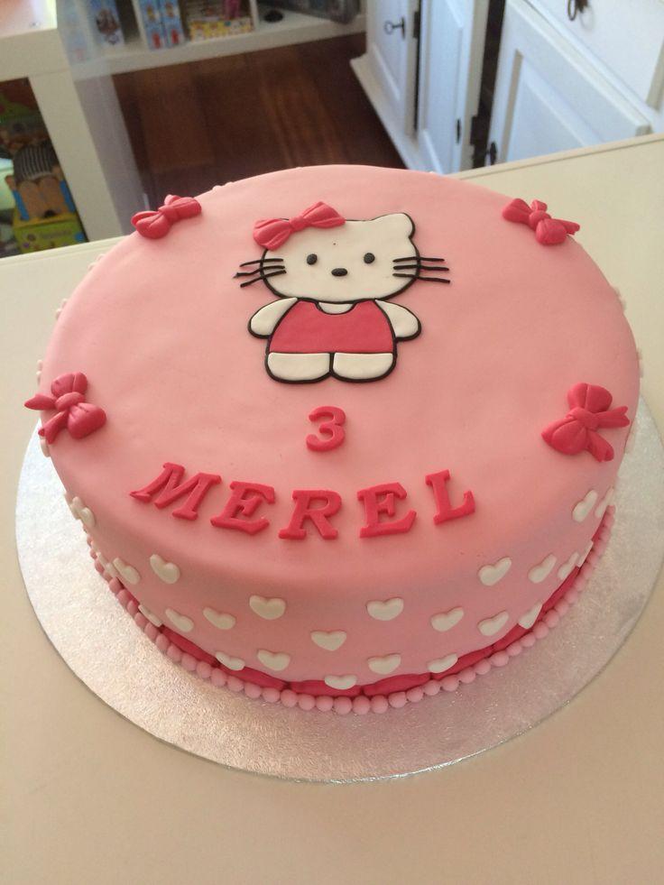 Hello Kitty taart www.twinkelotje.nl
