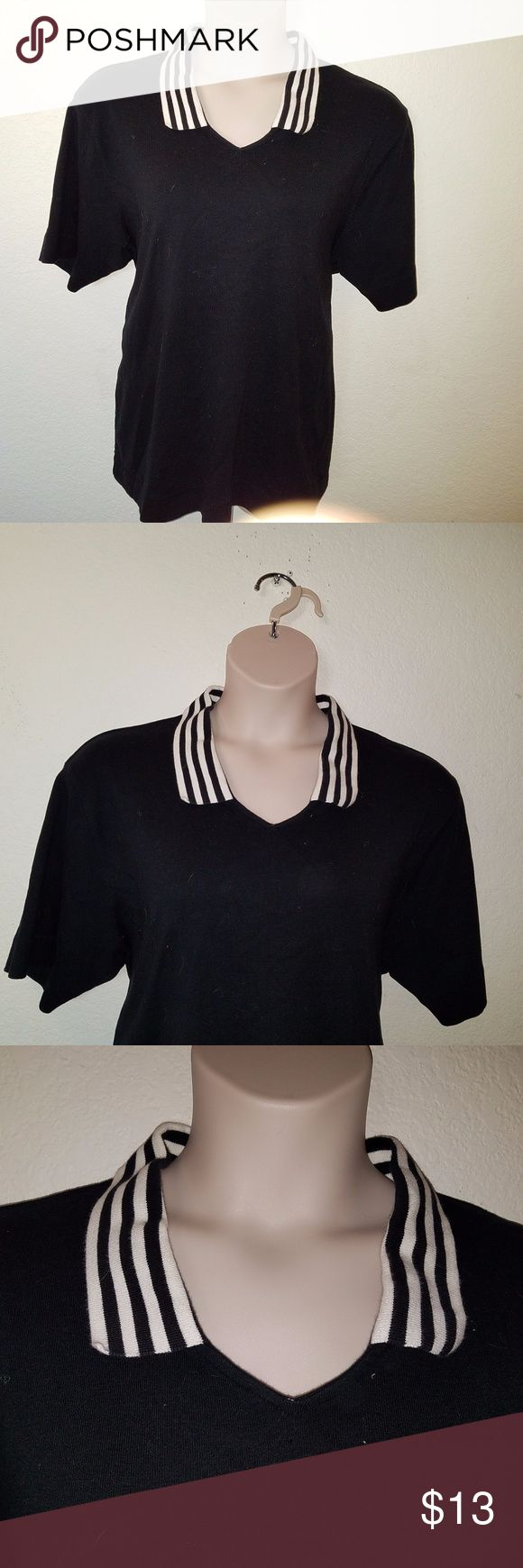 "Nautical Sailing STRIPED Collar Shirt 3X 24 26 EUC L@@KS Brand NEW! NO Flaws Noted! TAG Size ~ 3X  BUST ~ Approx 48"" LENGTH ~ Approx 29""  From a SMOKE FREE HOME  I LUV TO SHARE!!!  ***TOP 10% SHARER***  POSH MENTOR!!! I LUV TO MEET NEW POSHERS!  10/1 @@@@@ VEGAS STRONG @@@@  LUPUS AWARENESS MONTH ~ MAY Charter Club Tops Tees - Short Sleeve"