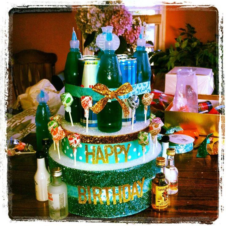 Liquor Birthday Cake Liquor Birthday Cake Birthday Ideas Liquor