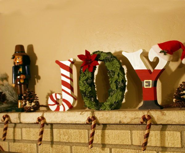joy blocks with santa use our standing wooden letters to With christmas wooden letters