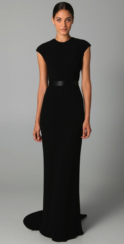Black t shirt jersey dress - Cap Sleeve Gown With Lace Back Detail Black Maxi Dressesblack