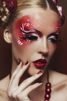 Fantasy Makeup will be achieved by exploitation uncommon bright colors or smoky eye color which might provide a fantasy cat's eye result.