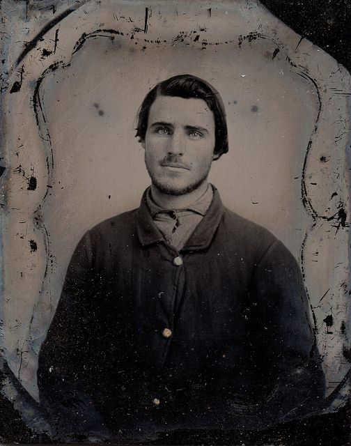 1/9 plate ambrotype of an unknown Union soldier, ca. 1861-1865.