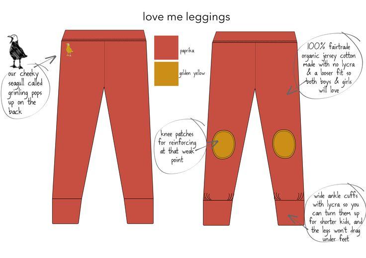 love-me leggings certified organic fair trade cotton & elastine leggings for boys & girsl