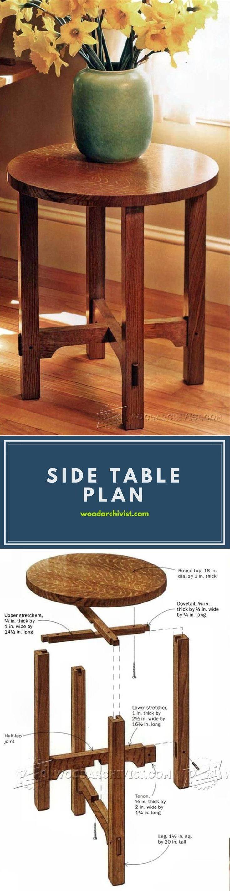 Art and Crafts Side Table Plans - Furniture Plans and Projects | WoodArchivist.com