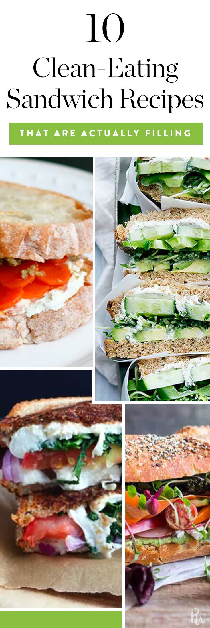 10 Clean-Eating Sandwich Recipes That Are Actually Filling via @PureWow via @PureWow