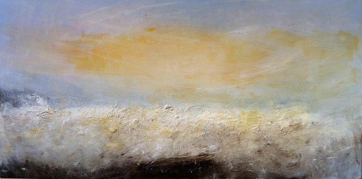 Storm Porth Nanven 1 oil on canvas 76x152 cm by chrishankey on Etsy