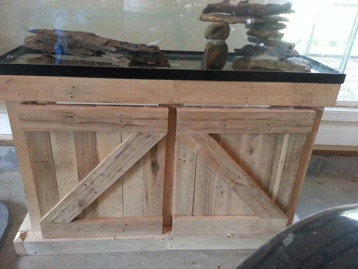 Aquarium Stand Iu0027m Making From Salvaged Maple Pallets...more Pictures When