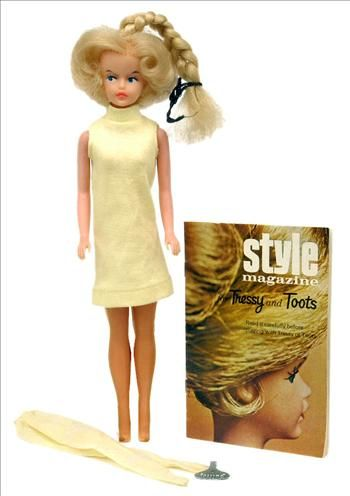 """Had a """"Tressy"""" doll...her hair """"grew"""" out of the top of her head when the key was used in her back."""