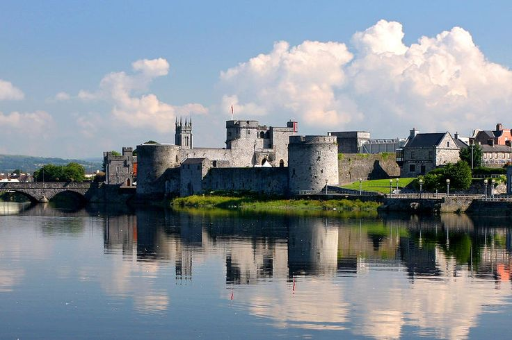 King John's Castle in Limerick, Ireland. Kids can practice being royalty inside the castle or just have fun exploring the banks of the Shannon River beside it.