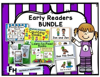 This is a bundle of all my early reader books.  This is a GROWING bundle. That means that I will be adding books to this bundle as I create them. Heres the great part - You only have to purchase this bundle ONCE and you can download all the new resources for FREE, even if the price goes up!What You Get: (Click On Each To Learn More)- Learn To Read Books Vol. 1- Counting Books- Fall Easy Readers- Short Vowel Books- Weather & Seasons Books- Emergent Readers Pack #1**************>> FOL...
