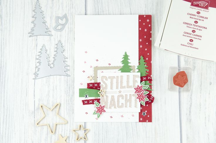 Christmas card created with Carols of Christmas Stamp Set and coordinating Card Front Builder Thinlits Dies ~ Jessica Winter