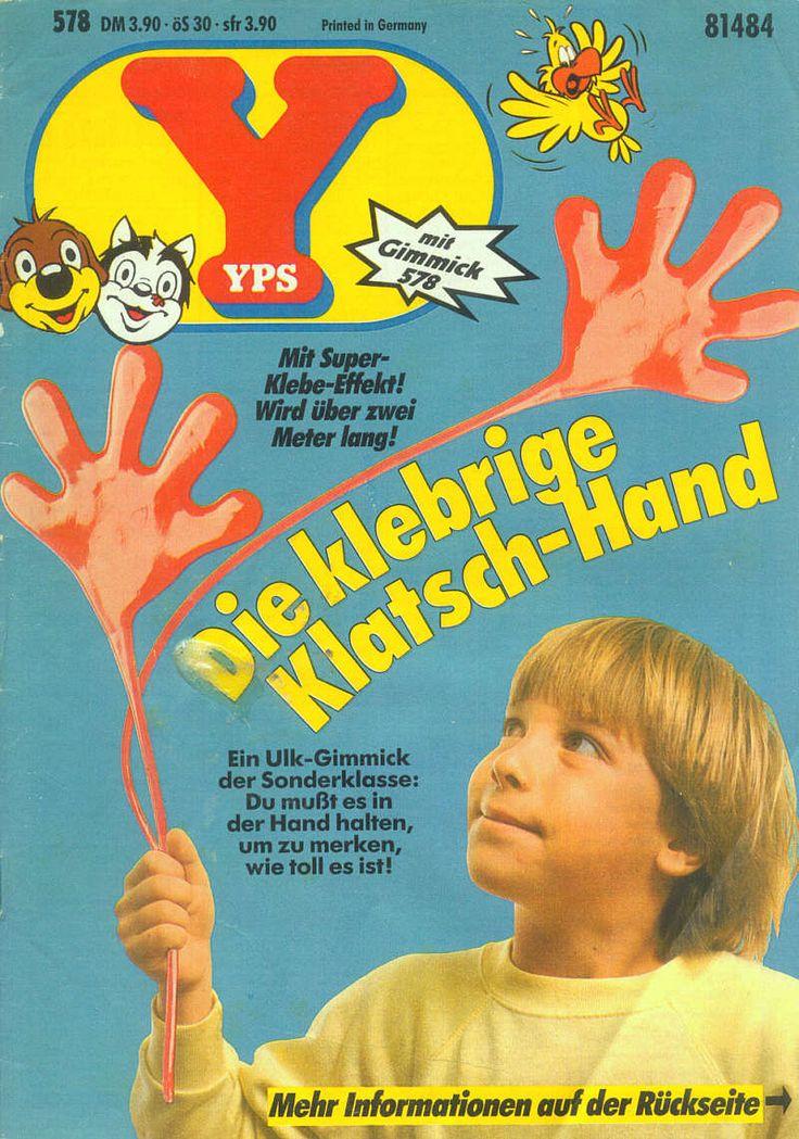 Die klebrige Hand, so eine hatte ich auch (grün).