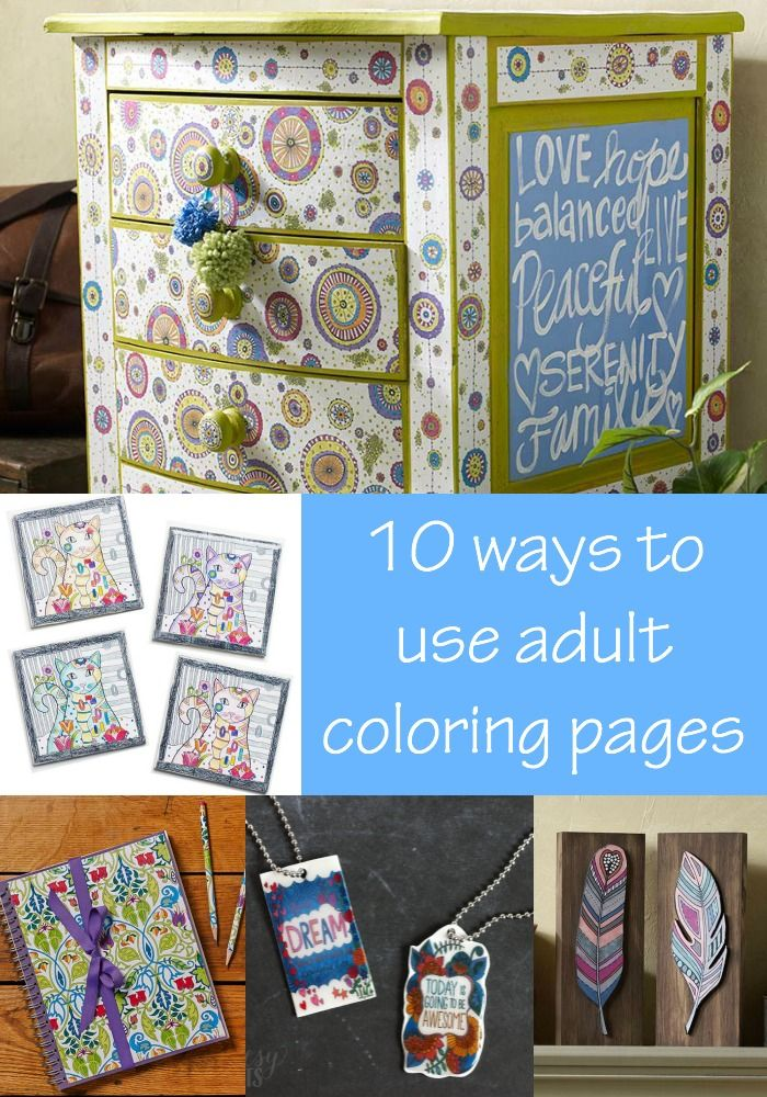 Ways to Use Coloring Pages, Lots of Furniture, and More from Mod Podge Rocks!