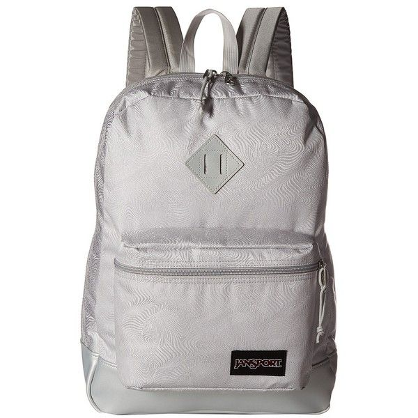 JanSport Super FX (Silver Psychedelic 1) Backpack Bags ($50) ❤ liked on Polyvore featuring bags, backpacks, jansport, pocket backpack, backpack bags, embroidered bag and jansport rucksack
