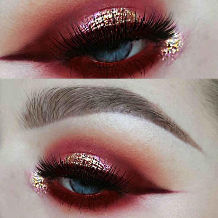 Best 25+ Red eye makeup ideas on Pinterest   Red eyeshadow makeup ...