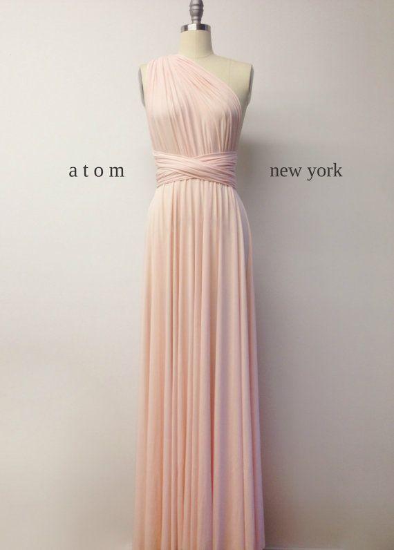 Fard à joues rose LONG étage longueur robe de bal par AtomAttire