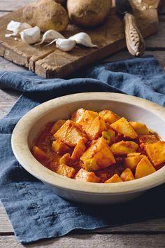 Πατάτες γιαχνί με ταχίνι