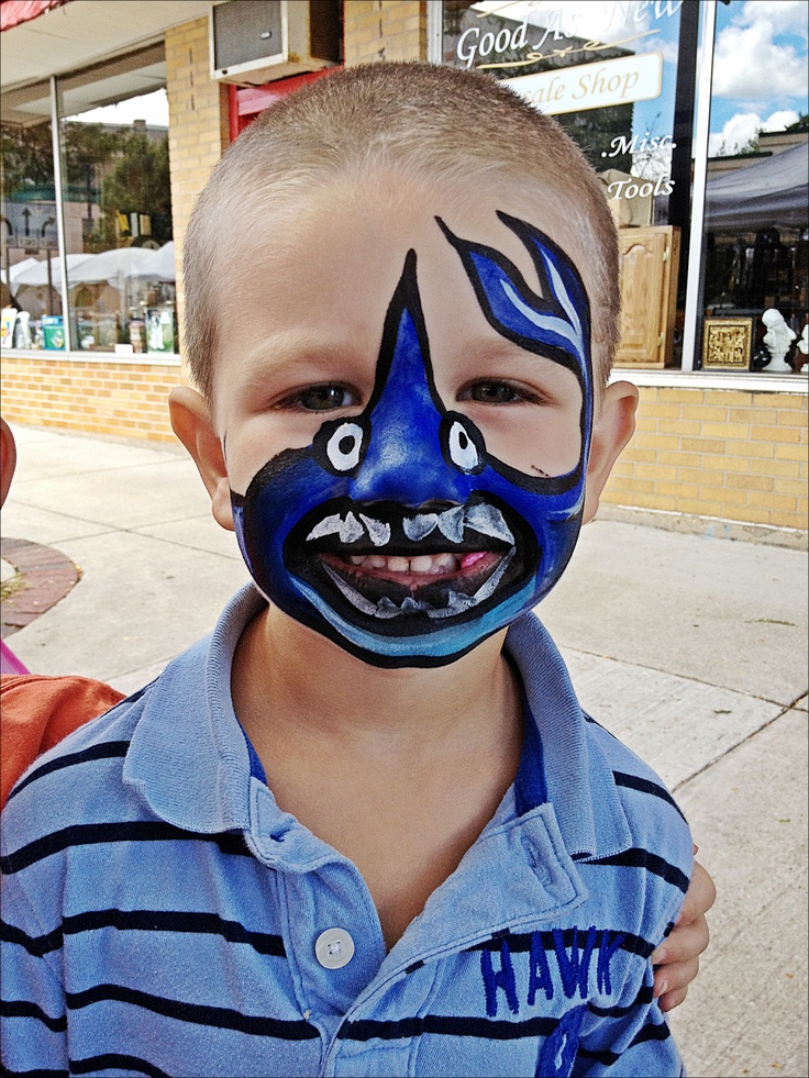 The gallery for --> Shark Face Painting