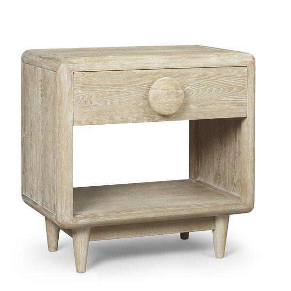 Brayden Studio Yasmine 1 Drawer Nightstand Wayfair Furniture Colored Dining Chairs Art Furniture