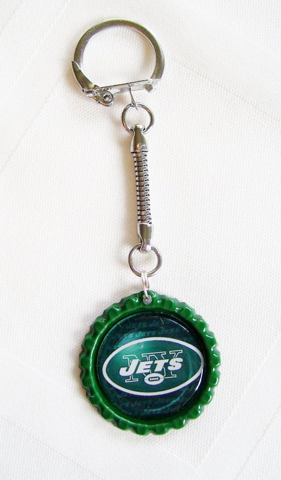 New York JETS Football Keychain  FREE SHIPPING by ZZsTeamTime