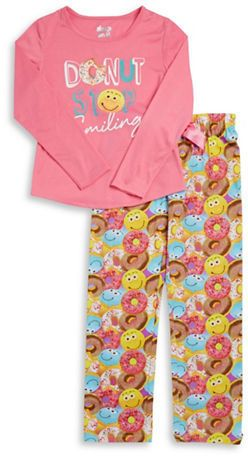 Sleep On It Sweet and Smiley Pajama Set