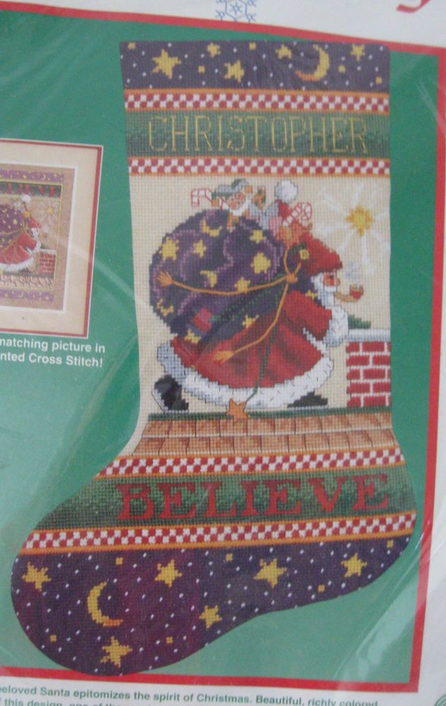 Dimensions Needlepoint Stocking Kit Believe Mary Engelbreit Christmas 9079 #Dimensions