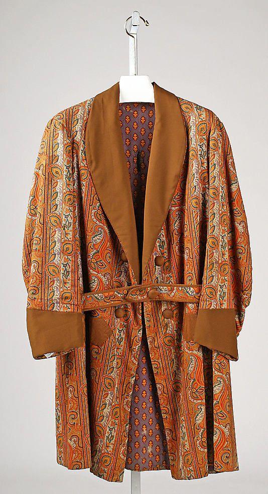Smoking jacket | United States, 1860-1870 | Material: cotton | The Metropolitan Museum of Art, New York
