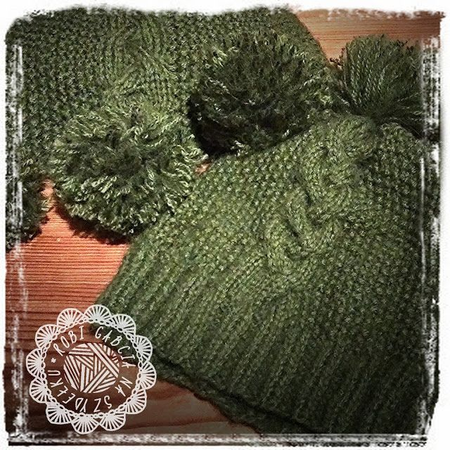 Robi Gabcia Na Szydełku: Zimowy komplet dla Leny #RobiGabciaNaSzydelku #hat #knithat