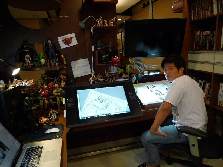 25 Best Images About Comic Book Artists Studios On