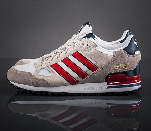 adidas Originals ZX 750-Running White-Bliss-Vivid Red / Follow My SNEAKERS Board!