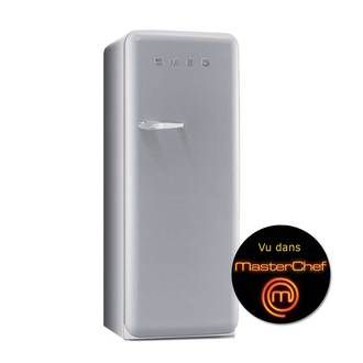 Réfrigérateur congélateur Smeg FAB28 Années 50 Smeg 1 porte 222 + 26 litres hauteur 151 cm A++ prix promo Delamaison 949.00 € au lieu de 148...