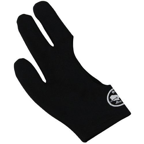 Sir Joseph Black Billiard Gloves - Large by Ozone Billiards. $13.90. Sir Joseph black large billiard gloves are for all billiard players, men or women, amateurs or professionals. Get a smooth even stroke every time with Sir Joseph billiard glove. Made of flexible and slippery Lycra Spandex. This black billiard gloves work for either the right or left hands. How to Determine Hand Size? Lay your hand, palm down, on a piece of paper. Draw a line on each side of your h...