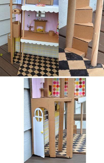 DIY Casa de muñecas de cartón