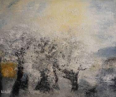 """Saatchi+Online+Artist+Wietzie+Gerber;+Painting,+""""NEIGE""""+#art"""